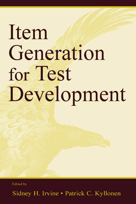 Item Generation for Test Development (e-Book) book cover
