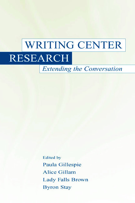 Writing Center Research: Extending the Conversation, 1st Edition (Hardback) book cover