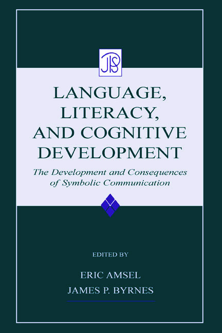 Language, Literacy, and Cognitive Development: The Development and Consequences of Symbolic Communication (Hardback) book cover