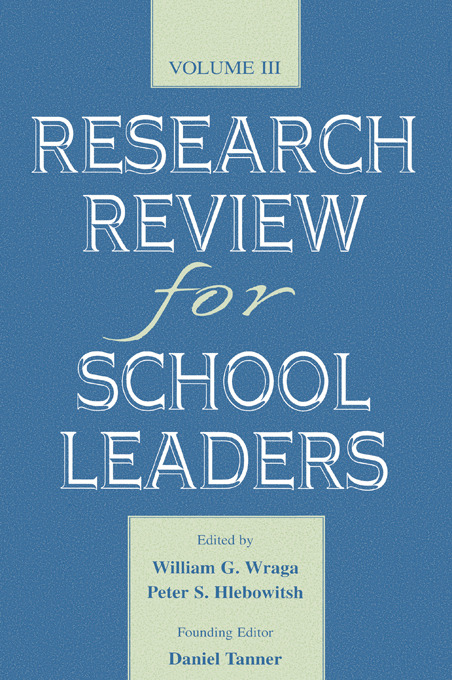 Research Review for School Leaders: Volume Iii, 1st Edition (Hardback) book cover