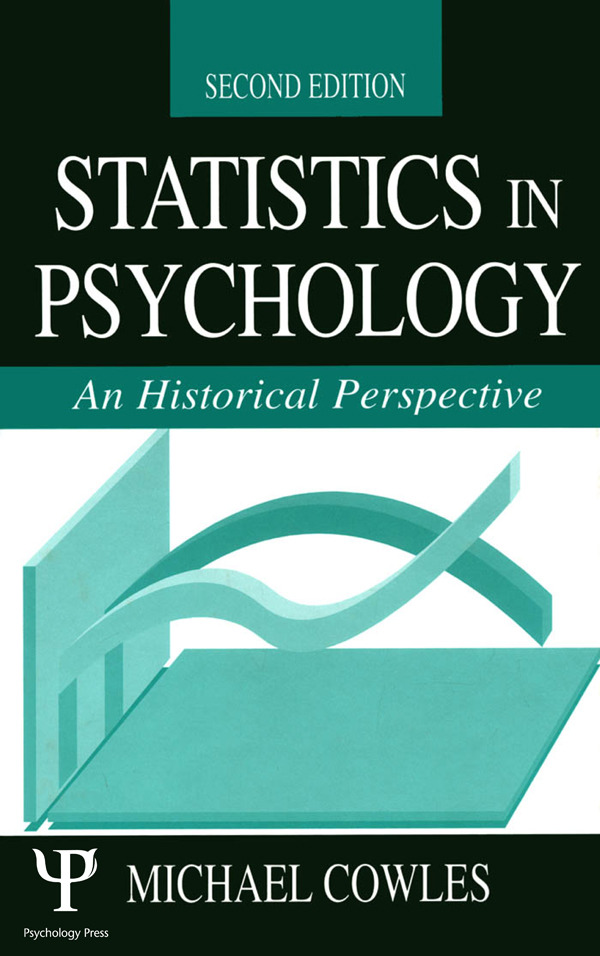Statistics in Psychology: An Historical Perspective, 2nd Edition (Paperback) book cover