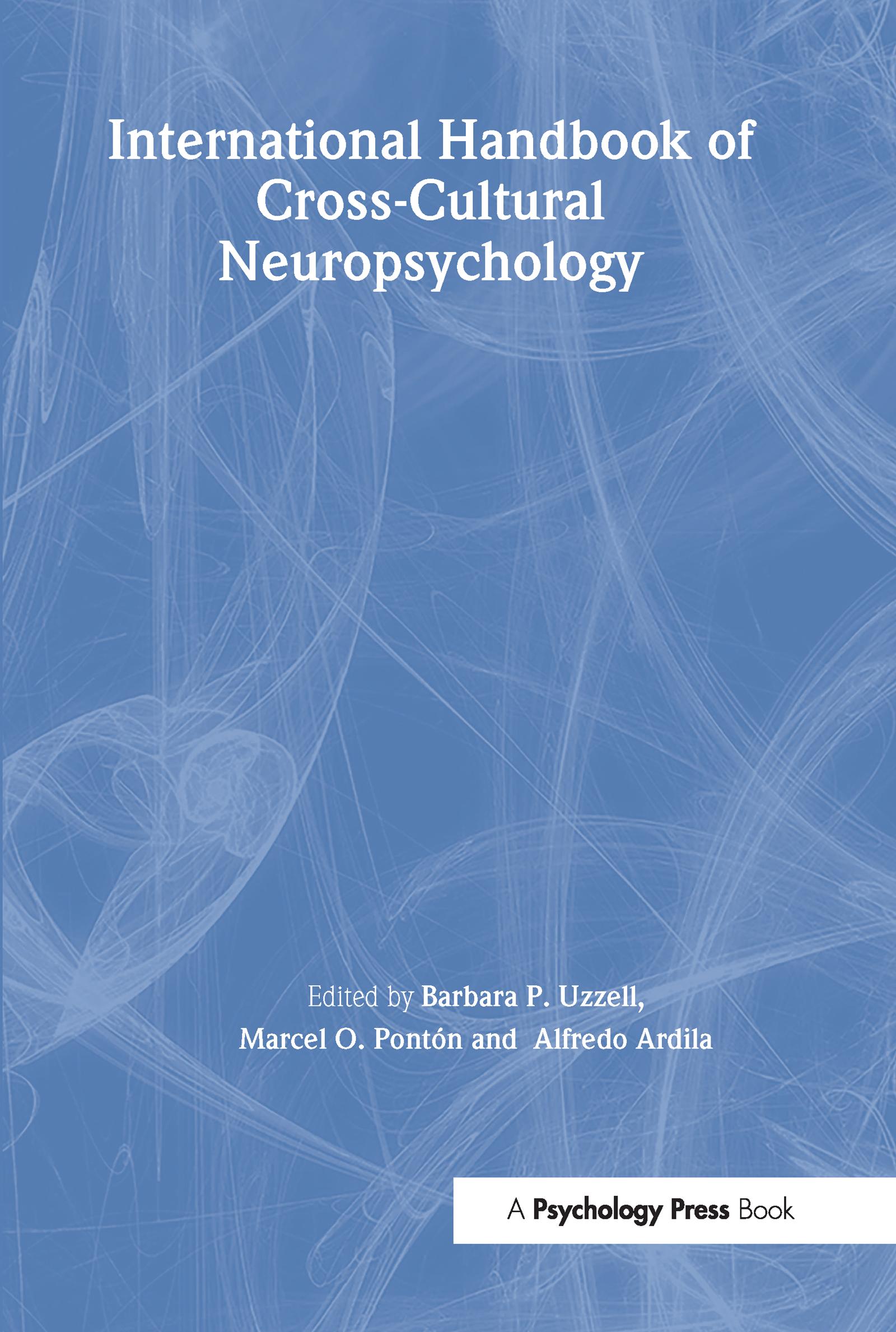 International Handbook of Cross-Cultural Neuropsychology: 1st Edition (Paperback) book cover