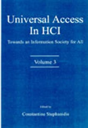 Universal Access in HCI: Towards An information Society for All, Volume 3 book cover