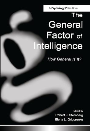The General Factor of Intelligence: How General Is It? (Hardback) book cover