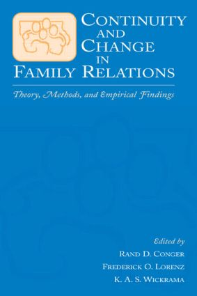 Continuity and Change in Family Relations: Theory, Methods and Empirical Findings (Hardback) book cover