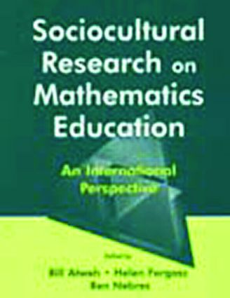 Sociocultural Research on Mathematics Education: An International Perspective, 1st Edition (Paperback) book cover