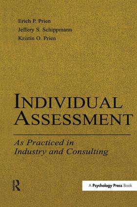 Individual Assessment: As Practiced in Industry and Consulting, 1st Edition (Hardback) book cover