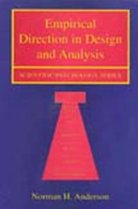 Empirical Direction in Design and Analysis (Hardback) book cover