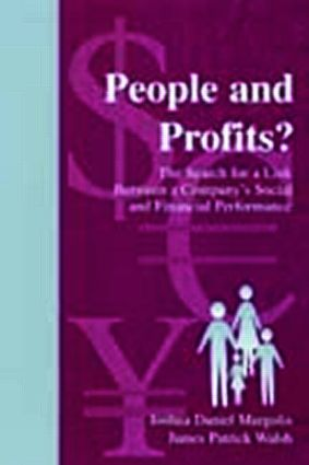 People and Profits?: The Search for A Link Between A Company's Social and Financial Performance book cover