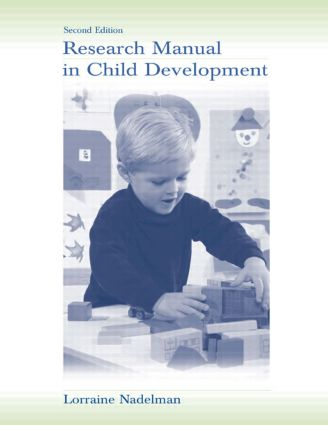 Research Manual in Child Development: 2nd Edition (Paperback) book cover