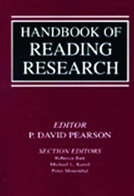 Handbook of Reading Research (Paperback) book cover
