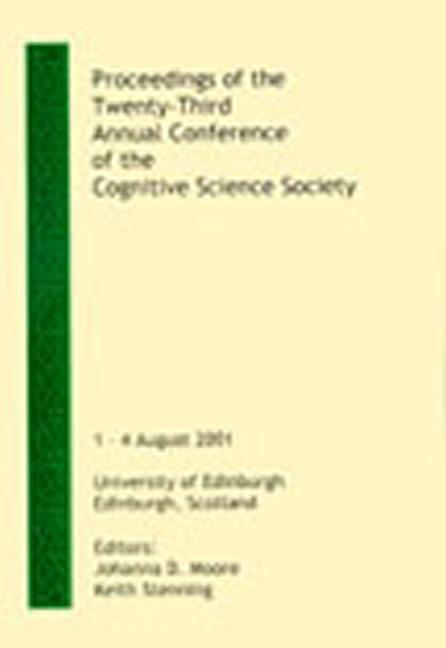 Proceedings of the Twenty-third Annual Conference of the Cognitive Science Society (Paperback) book cover