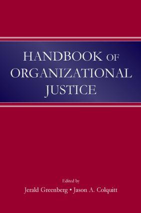 Handbook of Organizational Justice (Hardback) book cover