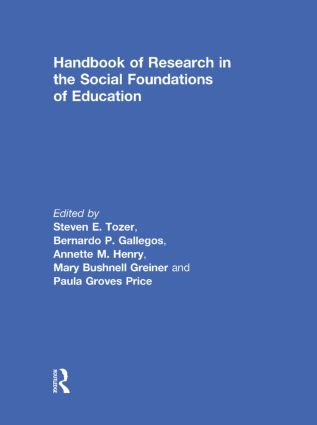 Handbook of Research in the Social Foundations of Education (Hardback) book cover