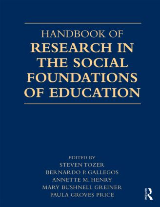 Handbook of Research in the Social Foundations of Education (Paperback) book cover