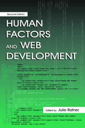 Human Factors and Web Development: 2nd Edition (Paperback) book cover