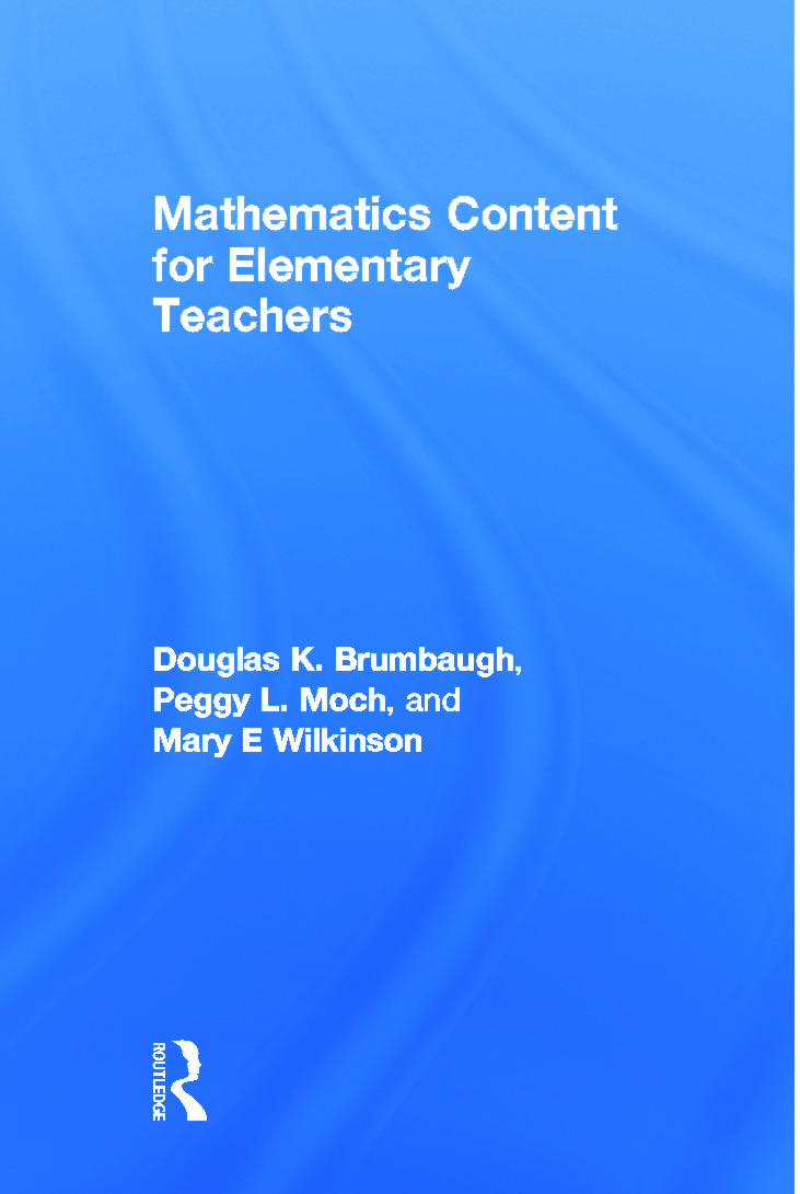 Mathematics Content for Elementary Teachers (Paperback) book cover