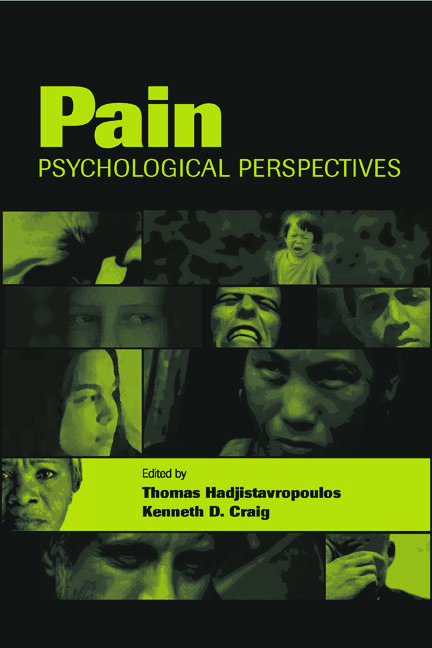 Pain: Psychological Perspectives (Hardback) book cover