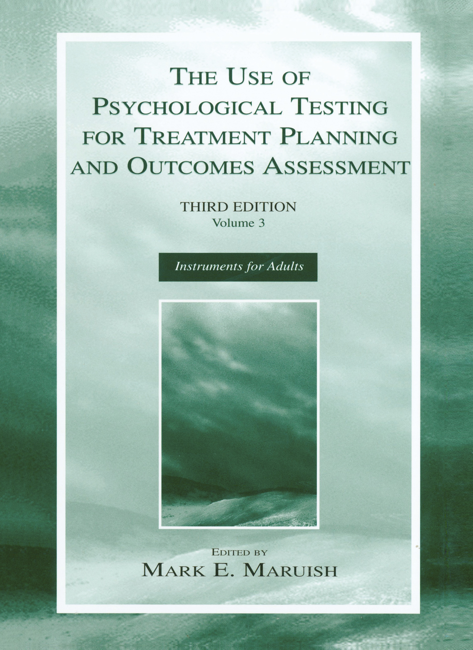 The Use of Psychological Testing for Treatment Planning and Outcomes Assessment: Volume 3: Instruments for Adults, 3rd Edition (Hardback) book cover