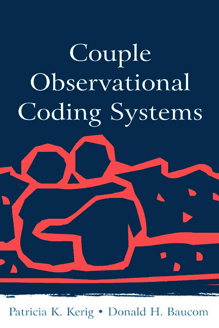 Couple Observational Coding Systems (Hardback) book cover
