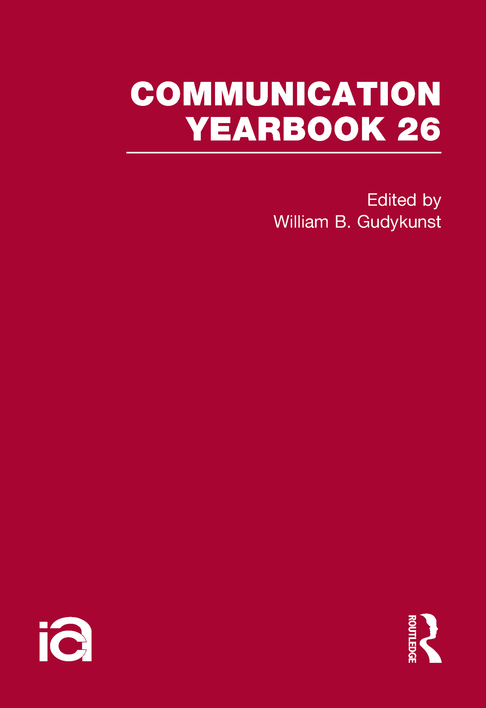 Communication Yearbook 26: 1st Edition (Hardback) book cover