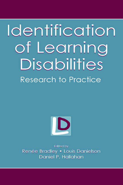 Identification of Learning Disabilities: Research To Practice book cover