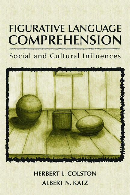 Figurative Language Comprehension: Social and Cultural Influences (Hardback) book cover