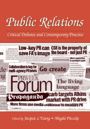 Public Relations: Critical Debates and Contemporary Practice book cover