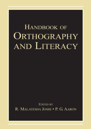 Handbook of Orthography and Literacy book cover