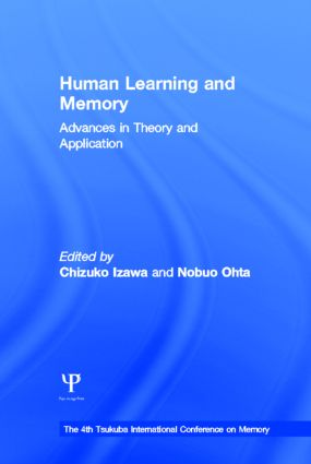 Human Learning and Memory: Advances in Theory and Applications: The 4th Tsukuba International Conference on Memory (Hardback) book cover
