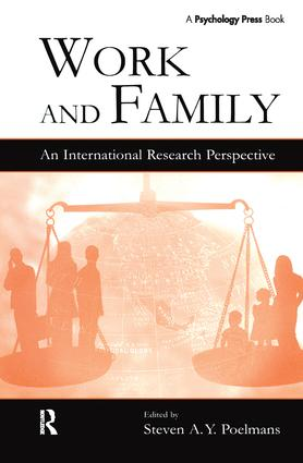 Work and Family: An International Research Perspective book cover