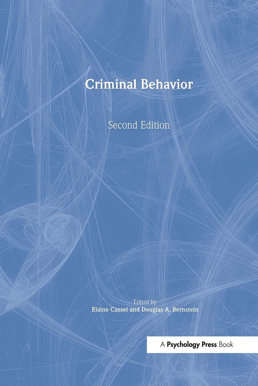 Criminal Behavior: 2nd Edition (Hardback) book cover