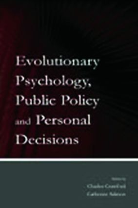 Evolutionary Psychology, Public Policy and Personal Decisions: 1st Edition (Paperback) book cover