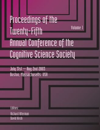 Proceedings of the 25th Annual Cognitive Science Society