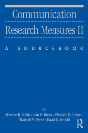 Communication Research Measures II: A Sourcebook (Paperback) book cover
