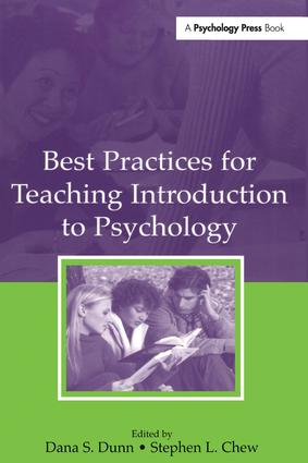 Best Practices for Teaching Introduction to Psychology (Hardback) book cover