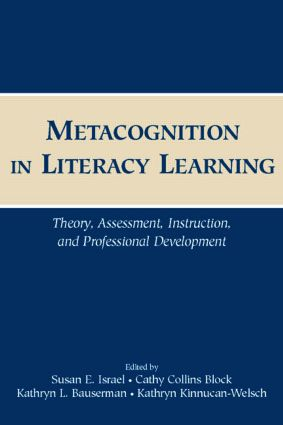 Metacognition in Literacy Learning: Theory, Assessment, Instruction, and Professional Development (Paperback) book cover