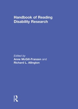 Handbook of Reading Disability Research (Hardback) book cover