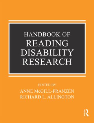 Handbook of Reading Disability Research (Paperback) book cover