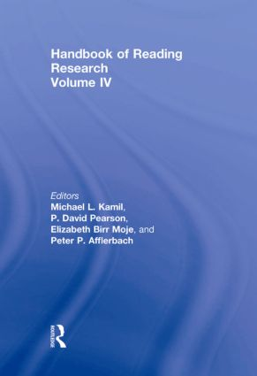 Handbook of Reading Research, Volume IV (Hardback) book cover