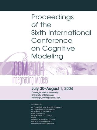 Sixth International Conference on Cognitive Modeling: ICCM - 2004, 1st Edition (Paperback) book cover
