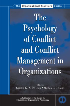 The Psychology of Conflict and Conflict Management in Organizations (Hardback) book cover