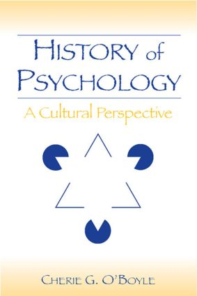 History of Psychology: A Cultural Perspective, 1st Edition (Paperback) book cover