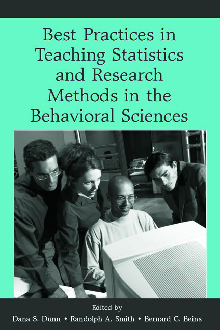 Best Practices in Teaching Statistics and Research Methods in the Behavioral Sciences (Paperback) book cover