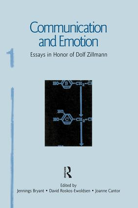 Communication and Emotion: Essays in Honor of Dolf Zillmann (Paperback) book cover