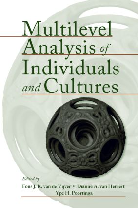 Multilevel Analysis of Individuals and Cultures (Paperback) book cover