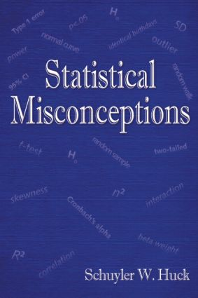 Statistical Misconceptions (Paperback) book cover