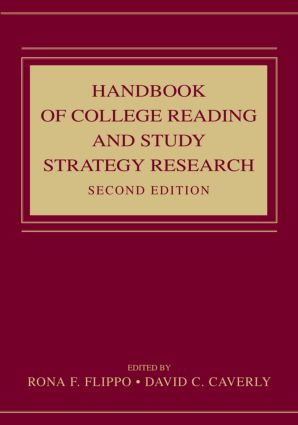 Handbook of College Reading and Study Strategy Research: 2nd Edition (Hardback) book cover