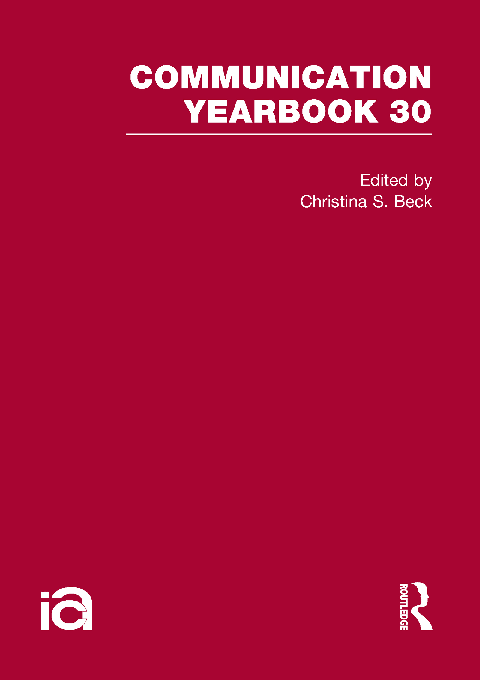 Communication Yearbook 30: 1st Edition (Hardback) book cover