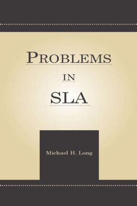 Problems in Second Language Acquisition (Paperback) book cover